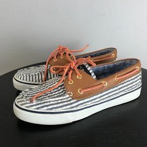 SPERRY Seersucker Boat Shoe